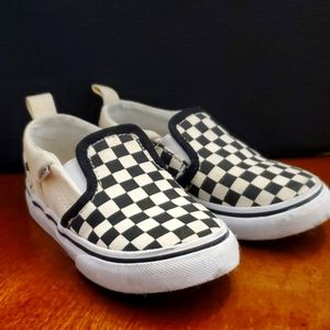 Toddler Checkerboard Vans Loafers